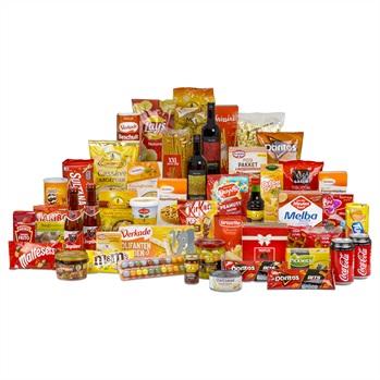 37. 'Kleurrijke A-merken' kerstpakket