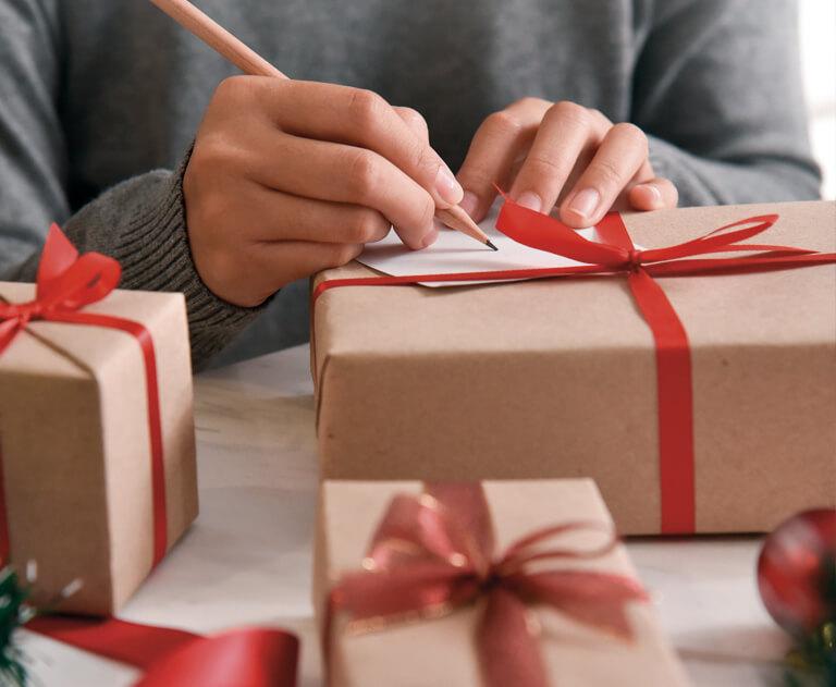 Kerstpakketten personaliseren