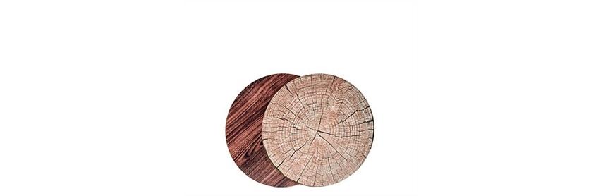 Natuurlijk en hip: deze houtlook placemats